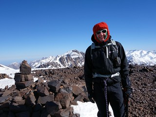 Me on the summit of Timesguida n'Ouanoukrim (4089m) | by markhorrell