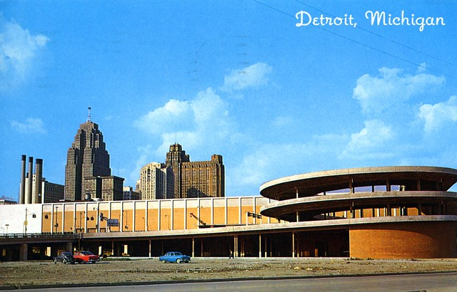 Cobo Hall and Skyline Detroit MI