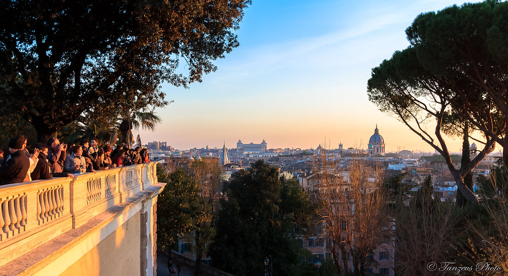 Sunset From Terrazza Del Pincio 1 Roma Lazio Italia Flickr