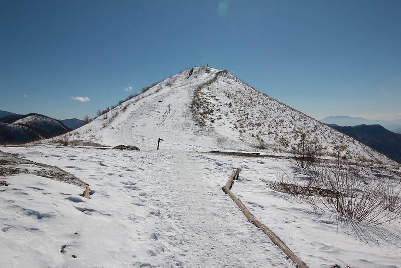 冬の飯盛山 雪山登山