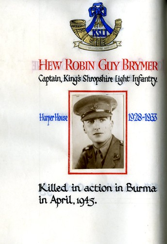 Brymer, Hew Robin Guy (1915-1945) | by sherborneschoolarchives
