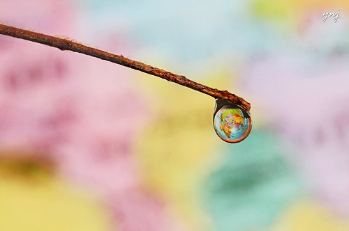Earth hanging on a water drop, literally | by Yogendra174