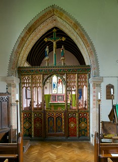 Restored Chancel screen St Edward the Confessor, Westcote Barton