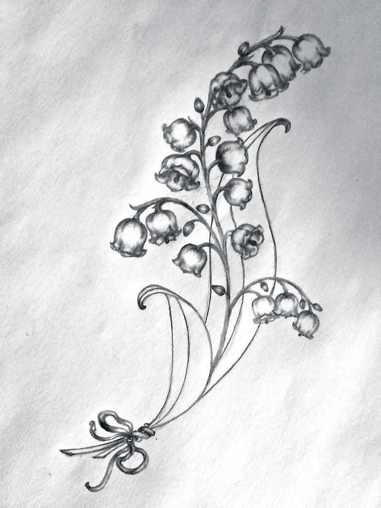 Lily Of The Valley Tattoo: Lydia's Tattoo Sketch