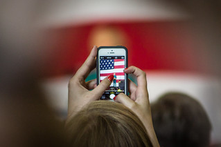 Hillary Clinton through a phone | by greghauenstein