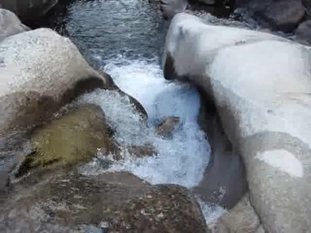2855 Video of Return Creek in Virginia Canyon with water spiralling through the granite walls