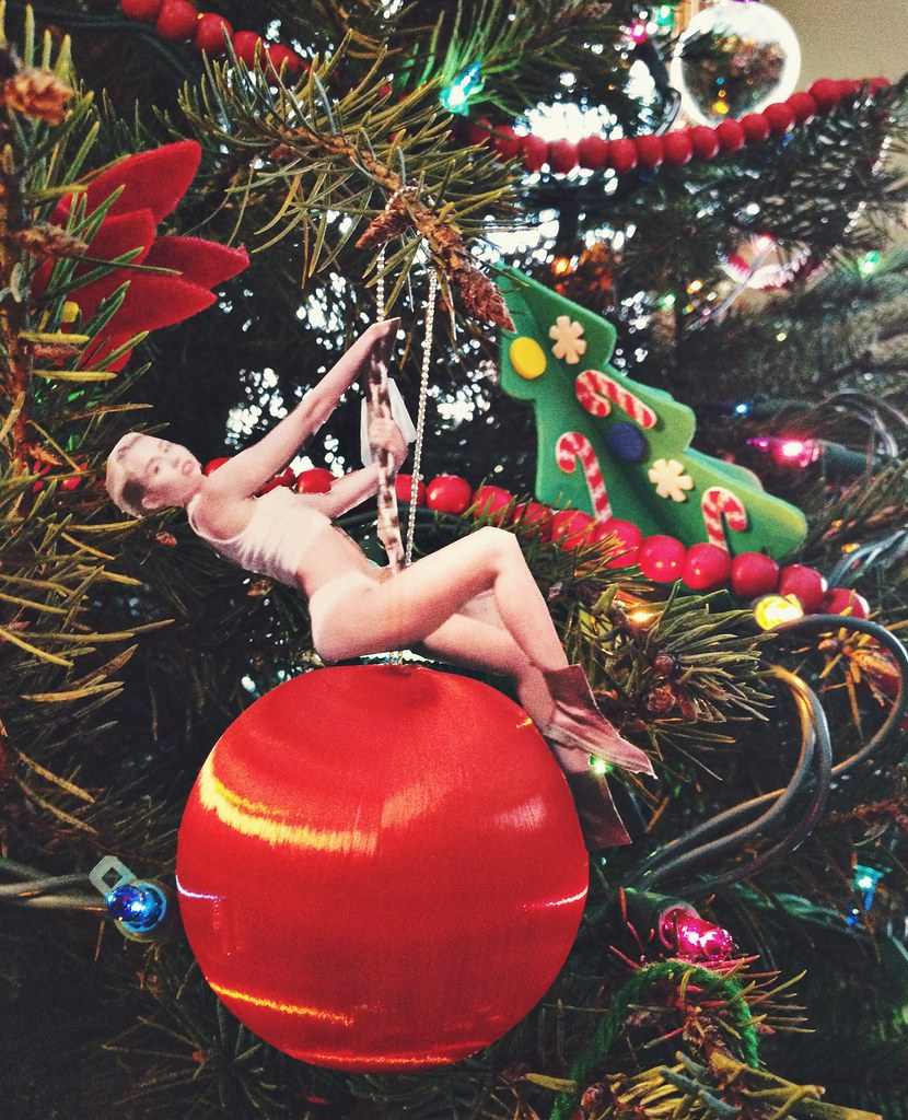 Miley Cyrus Wrecking Ball Christmas Ornament.Miley Cyrus Wrecking Ball Ornament Angie Six Flickr