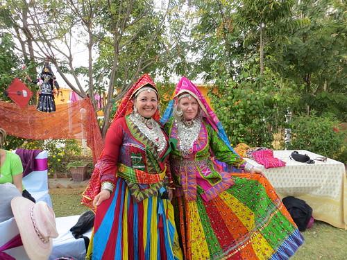Enjoying photoshoot in Indian dress @ Achrol bagh