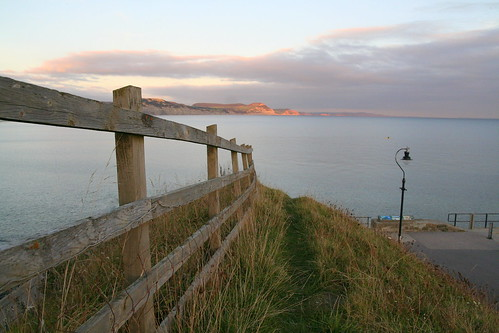 sunset sea clouds canon fence eos 350d evening view sigma dorset jurassic lyme regis 1770mm