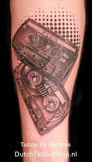 Casette Tapes Bandjes Met Namen Kids Onderarm Tattoo Flickr