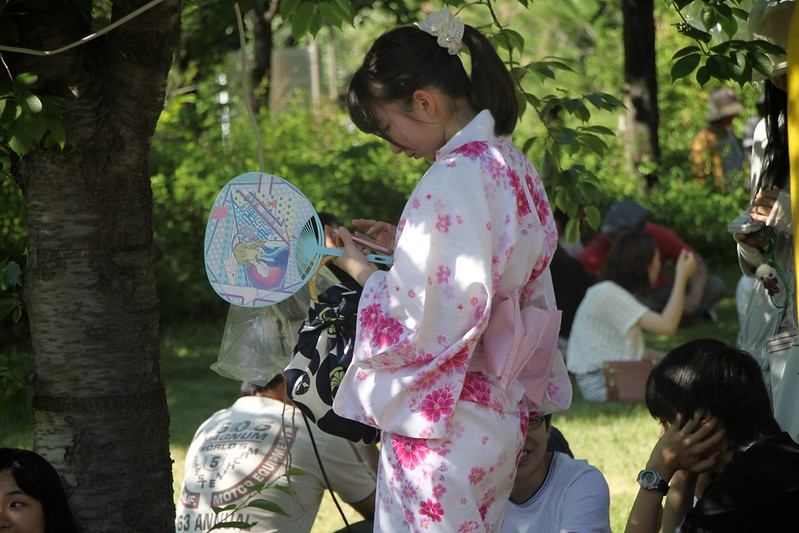 Japanese summer kimono.