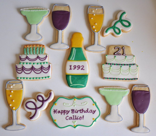 Turning 21 Custom Birthday Cookies!! | by kelleyhart