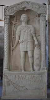 Tombstone of Gnaeus Musius, standard bearer of Legio XIV Gemina, 1st century AD, Landesmuseum, Mainz
