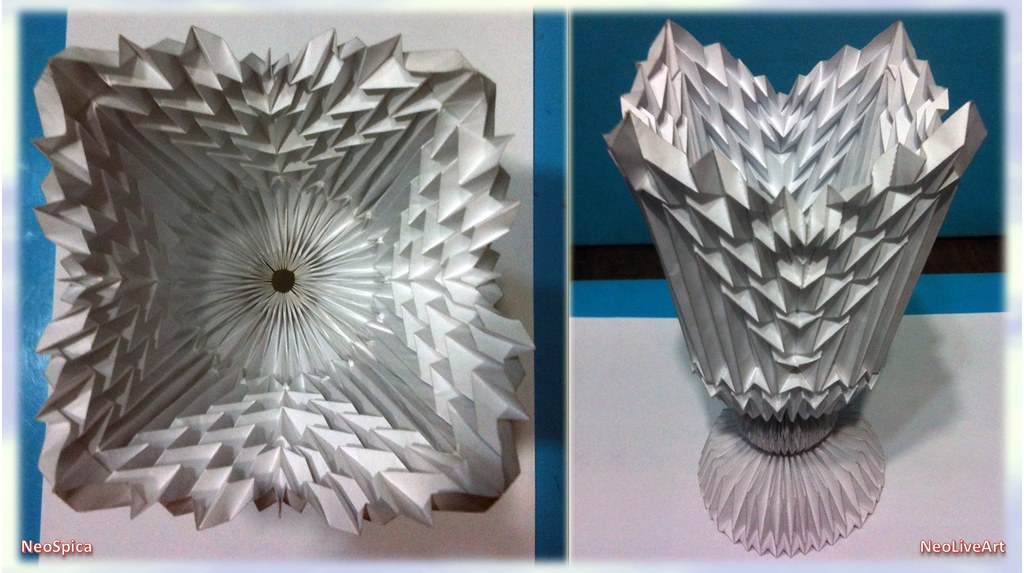 How to make beautiful paper flowers and a flower vase - paper ... | 573x1024