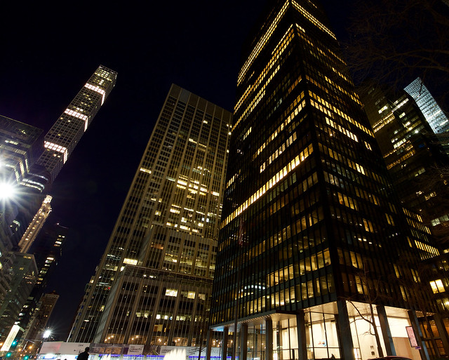 The Seagram Building by Night
