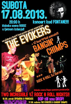 Bangin' Chimps + The Evokers