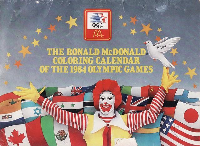 Ronald McDonald Coloring Calendar, 1984