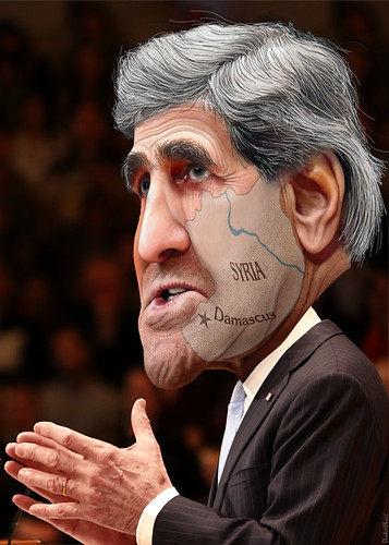 John Kerry - Saving Face   by DonkeyHotey