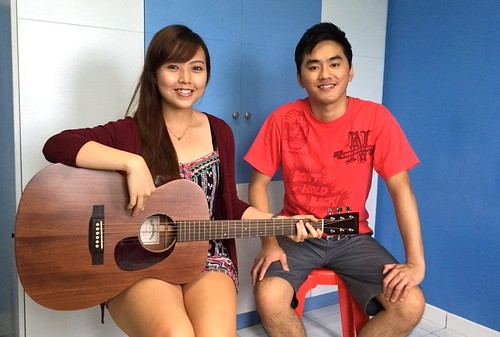 Private guitar lessons Singapore Aileen