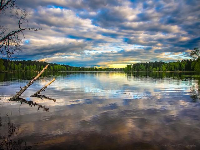 Sunset on a Norwegian Lake