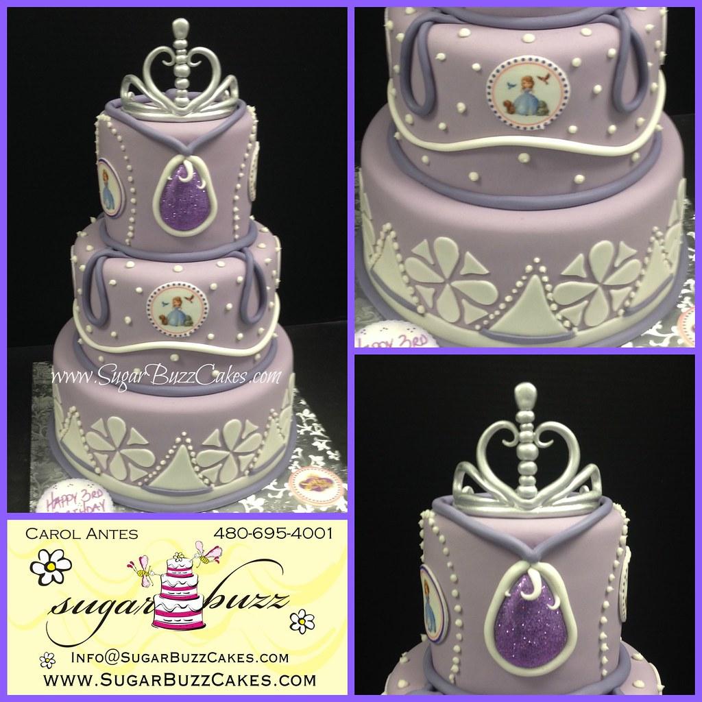 Amazing Sofia The First Birthday Cake Carol Flickr Personalised Birthday Cards Akebfashionlily Jamesorg