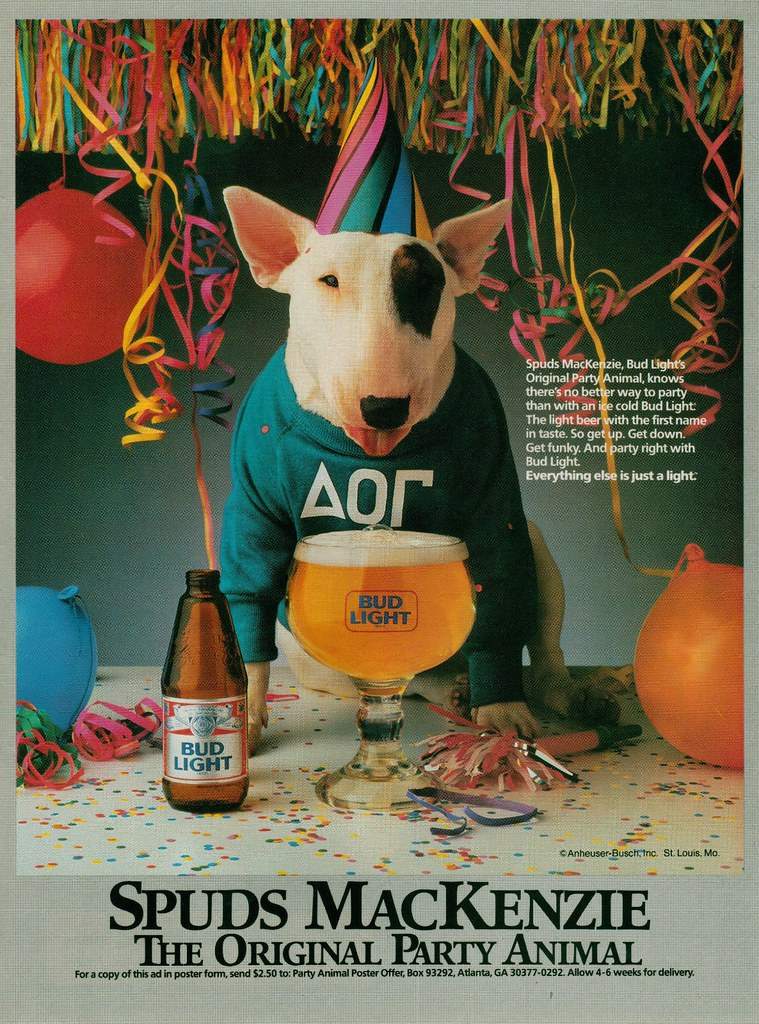 Spuds MacKenzie - The Original Party Animal | Wikipedia | Steve ...