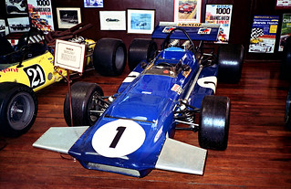 1994 - Jackie Stewart's 1970's March 701 F1 car on display at the Motor Museum, York, Western Australia