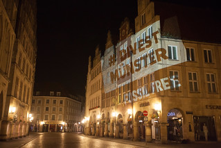 Fossil Free Münster Video Projection at City Hall August 2015 | by 350.org