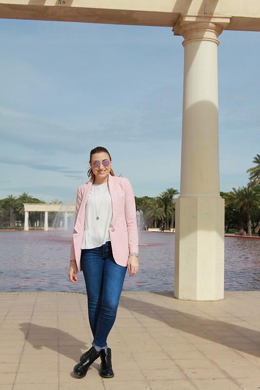 Spring outfit blazer rosa