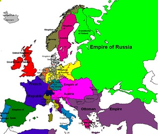 Map of Europe, 1850 | The Polish-Lithuanian State declined ...