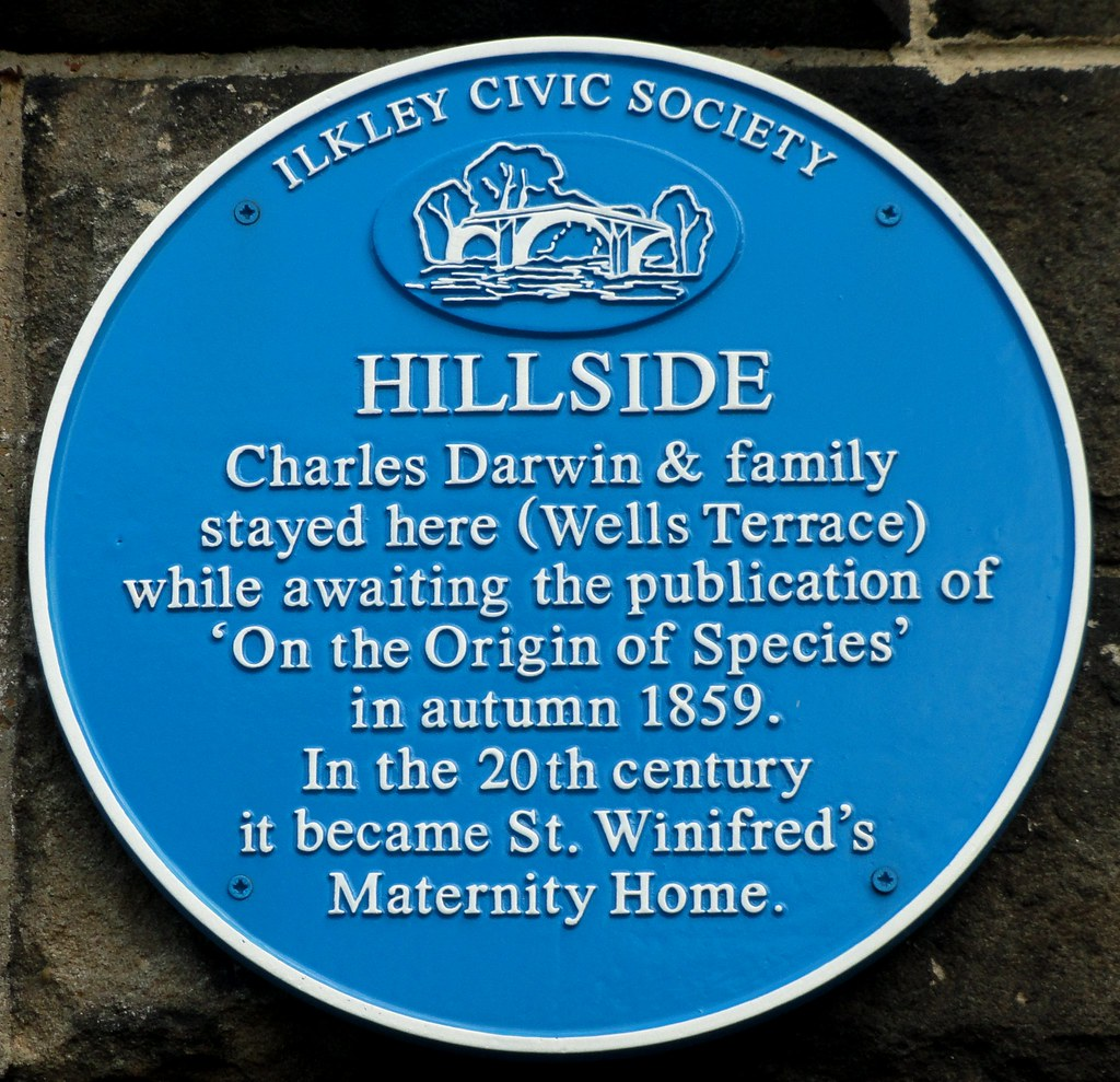 Charles Darwin Blue Plaque, Ilkley | Peter Hughes | Flickr