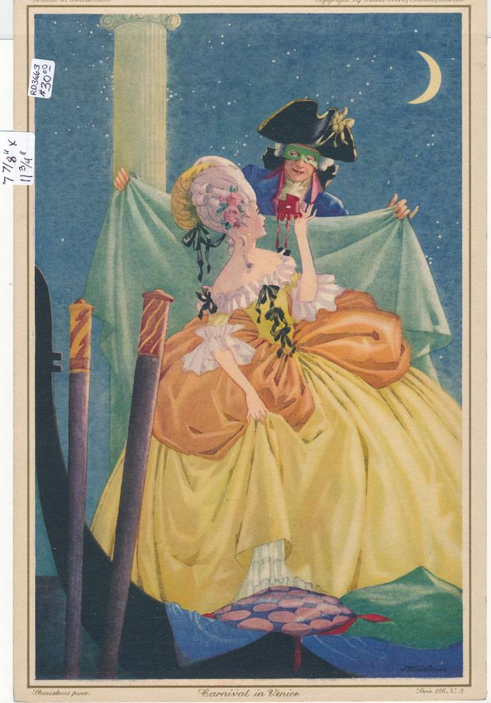 RD3663 Stehli Freres Zurich Switzerland Stanislaus - Carnival in Venice Serie 156 No. 3