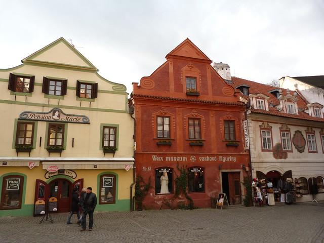 Casas de Cesky Krumlov (República Checa)