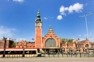 4990 Danzig Hauptbahnhof - Gdańsk Główny; erbaut 1900, Bau ...