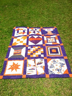 My favorite block quilt along completed top.