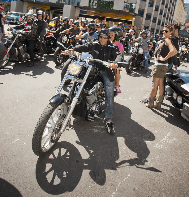 Harley Davidson Parade in Locarno. August 25, 2013.No.8588.