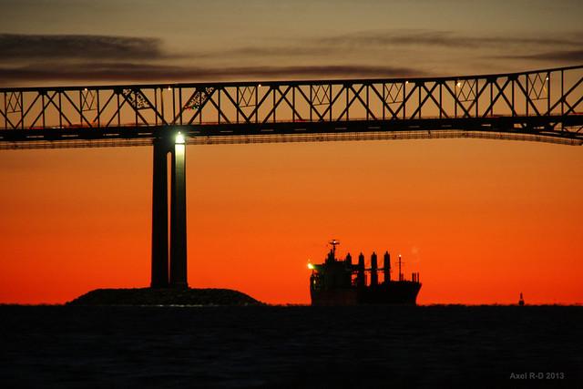 Bateau sur le fleuve - Trois-Rivières