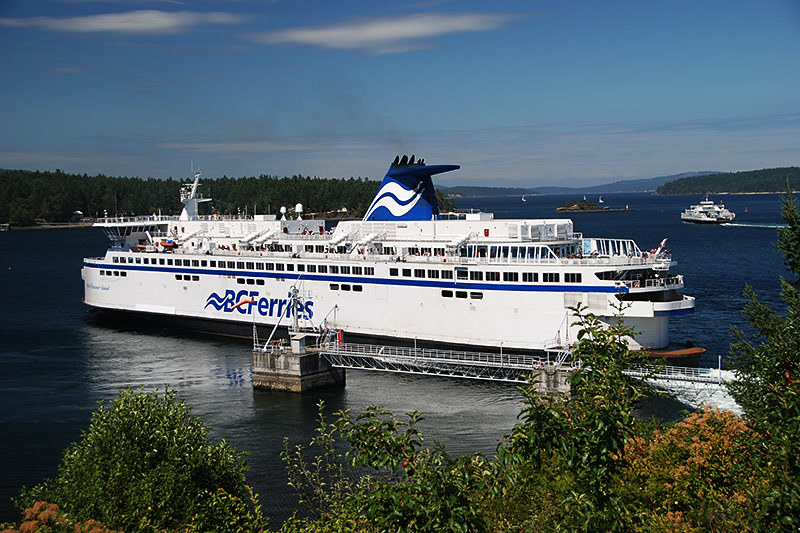 Ferry at Swartz Bay Ferry Terminal, Greater Victoria, Vancouver Island, British Columbia, Canada