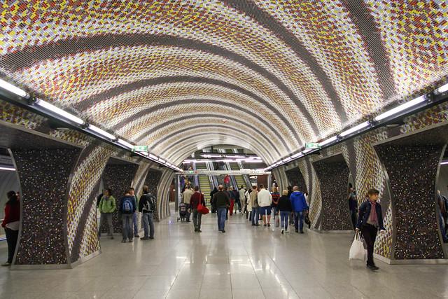 Budapest Metro line 4 - Gellert station 1
