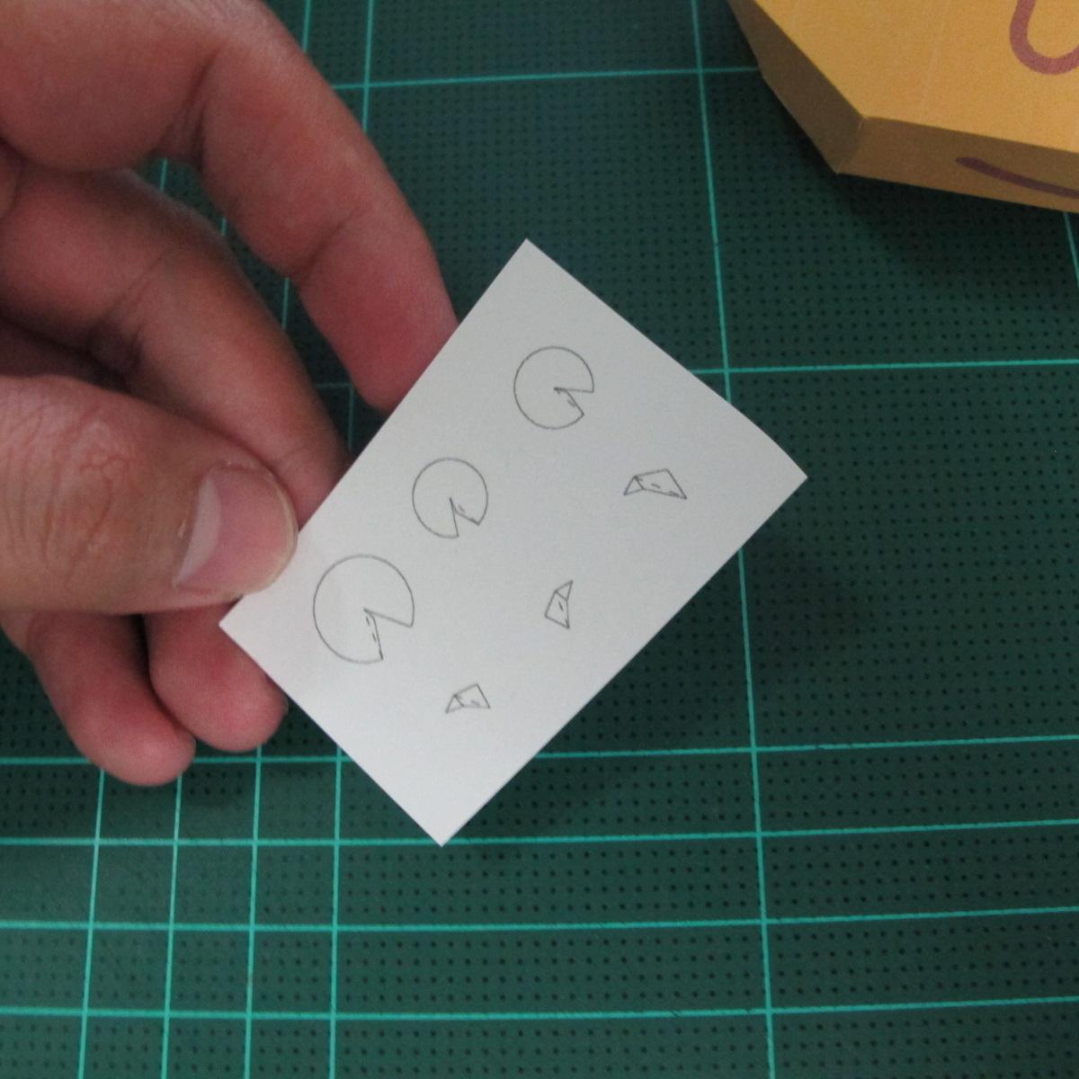วิธีทำโมเดลกระดาษตุ้กตาสัตว์เลี้ยง หยดทองจากเกมส์ คุกกี้รัน (LINE Cookie Run Gold Drop Papercraft Model - クッキーラン  「黄金ドロップ」 ペーパークラフト) 017