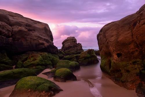 seascape sunrise rocks australia redhead newsouthwales aus nikon1635mmf4 nikond750
