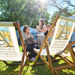 Deckchairs in the sunshine |