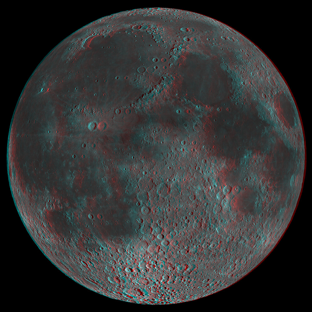 This Is An Anaglyph Of An Lunar Reconnaissance
