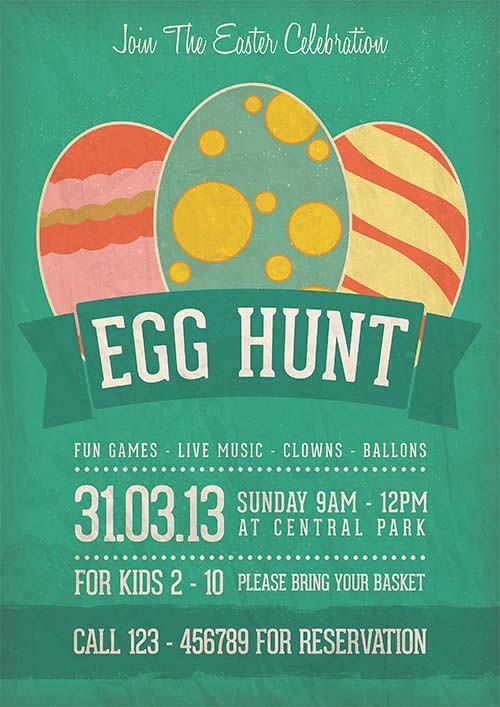 Egg Hunt Easter Celebration Flyer Template Download Link