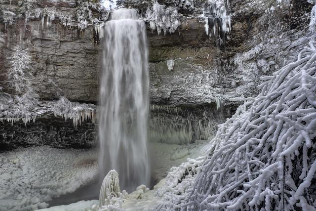 Fall Creek Falls 1, winter, Fall Creek Falls SP, Van Buren Co, TN
