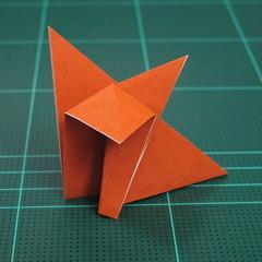 วิธีพับกระดาษเป็นสุนัขจิ้งจิกแบบง่าย (Simple Origami Fox) 006