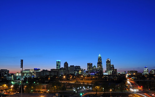 city sunset urban skyline night skyscraper nc downtown charlotte dusk central northcarolina center uptown bluehour clt charlotteskyline uptowncharlotte