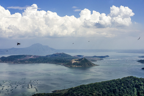 sky lake clouds landscape volcano philippines nikonf tagaytay taal nex metabones