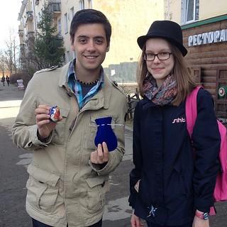 Мике получил замечательную экскурсию и пасхальный подарок от Нины #бефф #beffest @beffest #mike #filmdirector #film #festival #easter #ru #russia