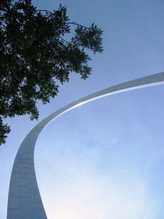 Gateway Arch Cutting Across the Sky